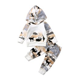 deer leggings Australia - pudcoco New born Baby Boys Girls Deer forest fairy tales Hooded Tops Pants Leggings bebe cotton warm Outfits Clothes set