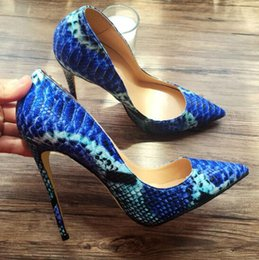 $enCountryForm.capitalKeyWord NZ - The new women snake-print heels were paired with sexy pointy wedding shoes, 8CM 10CM 12CM perfect party heels