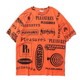 e2b8af34d 2019 Best Quality Pleasures Full Logo Printed Women Men T shirts tees Hiphop  Streetwear Men Cotton Short SLeeve T shirt