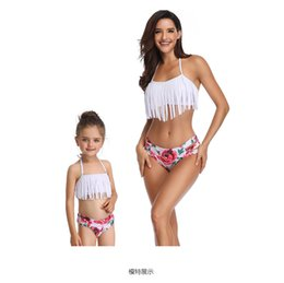 $enCountryForm.capitalKeyWord NZ - Fshion baby girls and mom bikini sets family match fringes swimsuit outfits Bohemia tropic styles mother and daughter swimwear
