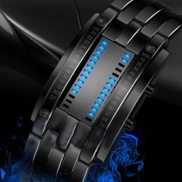 $enCountryForm.capitalKeyWord Australia - Creative Digital Watch Full Steel Binary Wrist Watch Women LED Electronic Sport Watches Waterproof Men's Clock men relojes