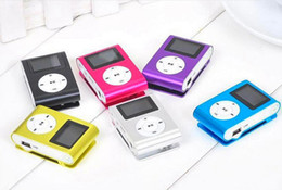 MINI Clip MP3 Player with FM 1.2 Inch LCD Screen Music player Support Micro TF Slot + Earphone +USB Cable with box on Sale