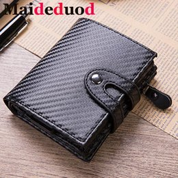$enCountryForm.capitalKeyWord Australia - New Aluminum Wallet Credit Card Holder Metal with RFID Blocking Multifunction Wallet Travel Metal Case Men Card Holder Black