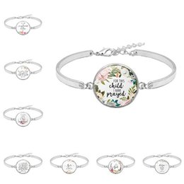 Charm Pictures NZ - 1pc Fashion Psalm Bracelet Art Picture Print Glass Dome Charms Bracelet Bible Verse Quote Jewelry Gift For Christian