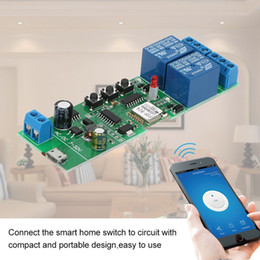 $enCountryForm.capitalKeyWord Australia - Universal Smart Wifi Switch Module Electric Light Switch 2CH Wireless Remote Control Relay Home Automation Modules for Alexa Google Home Nes