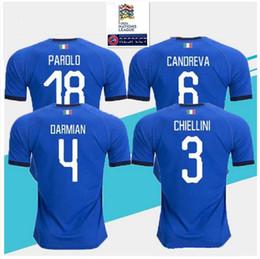 5846a1431 2018 2019 Italy soccer jerseys EL SHAARAWY PIRLO BONUCCI DE ROSSI INSIGNE  VERRATTI CHIELLINI home away football jersey shirts