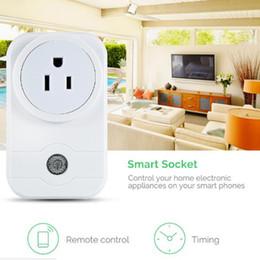 Power Socket Remote Controlled Eu Australia - Smart Power Plug Portable Strip Adapter Mini Smart Wifi Socket Remote Control Intelligent Smart Device EU UK US Plug With CE FCC RoHS
