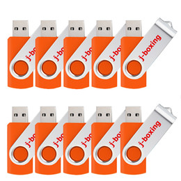usb flash pens Canada - Orange Bulk 10PCS Metal Rotating USB 2.0 Flash Drive Pen Drive Thumb Memory Stick 64M 128M 256M 512M 1G 2G 4G 8G 16G 32G for PC Laptop Mac
