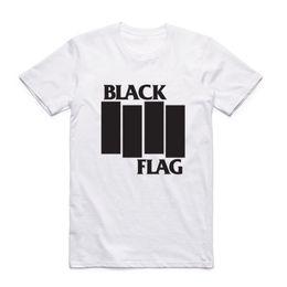 Wholesale band t shirts for sale – custom Fashion Men Print Black Flag T shirt With Short Sleeve O Neck Summer Band Casual Top Tee Tshirt