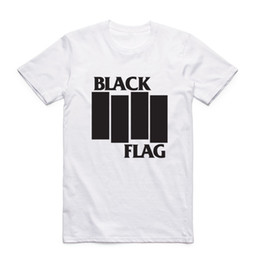 Wholesale Fashion Men Print Black Flag T shirt With Short Sleeve O Neck Summer Band Casual Top Tee Tshirt