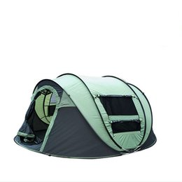 Family tent canvas online shopping - new Tents super shelters automatic people single layer Korean brand ultralight professional design camping tourist tent
