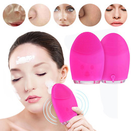 cleaning washing machines Canada - Electric Face Cleaning Mini Electric Massage Brush Washing Machine Waterproof Silicone Cleansing Tools for Beauty Skin