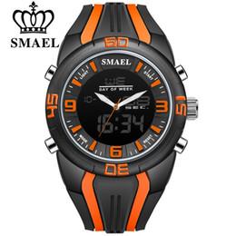 $enCountryForm.capitalKeyWord Australia - SMAEL Men Sport Wristwatches Fashion Alloy Clock Quartz Digital LED Dual Display Watches Waterproof Mens Watch relogio masculino