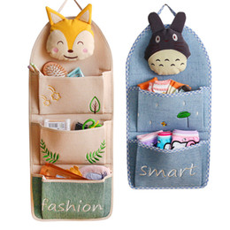 Toy Organizers Australia - Hanging Storage Bag 3D Cartoon Wall Pockets Rack Sundries Storage Wall Hanging Bags Cosmetic Toys Organizer Home Decor Wardrobe Container