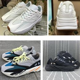 Kanye West Sneakers Gold Australia - shoes sports Kanye West wave runner 700 womens mens running shoes White off Triple black brand running sneakers luxury designer shoes