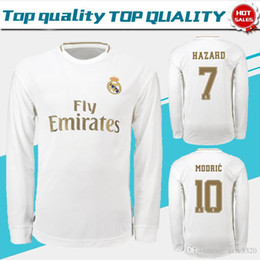 $enCountryForm.capitalKeyWord Australia - Real Madrid Full Sleeve home Soccer Jerseys 19 20 #7 HAZARD Real Madrid long sleeve soccer shirt #11 BALE #4 SERGIO RAMOS Football uniforms