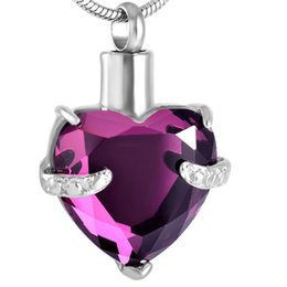 $enCountryForm.capitalKeyWord UK - IJD8072 12 Colors Heart Crystal Cremation URN Necklace for Ashes Jewelry Memorial Keepsake Pendant,Free Filling Kits