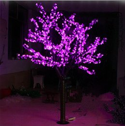 green candle bulbs UK - LED Artificial Cherry Blossom Tree Light Christmas 1248pcs Bulbs 2m 6.5ft Height 110 220VAC Rainproof Outdoor Use Free