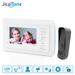 security system panels Australia - JeaTone 7 inch Video Door Phone Intercom Doorbell System Home Security Waterproof Night Vison IR Call Panel + TFT Color Monitor