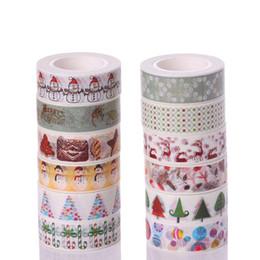 $enCountryForm.capitalKeyWord Australia - Christmas Tape Gift Wrap Tape Lashing Band Adhesive Gift Wrapping Cartoon DIY Decorative paste Santa Claus Japan and paper Free