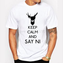clothing sayings NZ - Ni t shirt Keep calm and say short sleeve tops Best fadeless tees Unisex white colorfast clothing Pure color modal Tshirt