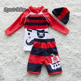$enCountryForm.capitalKeyWord Australia - New Design Red Kids Swimsuit Quality Boys Swimwear Teenagers Two-pieces Lovely Infant Bath Suit Children Beachwear 2-10years