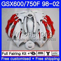 Red Katana Australia - Body For SUZUKI GSXF 750 600 GSXF750 1998 1999 2000 2001 2002 292HM.56 GSX 600F 750F glossy white red KATANA GSXF600 98 99 00 01 02 Fairing