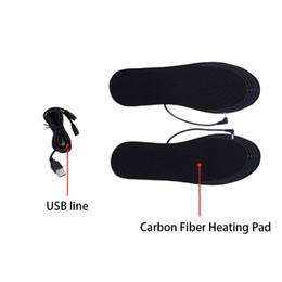$enCountryForm.capitalKeyWord Australia - Winter Shoe Pad Electric Heated Reusable Foot Warmer Washable Carbon Fiber Insoles USB Comfort Cuttable Men Women Dirt Proof