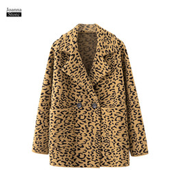 $enCountryForm.capitalKeyWord Australia - leopard jacket women vintage suit collar winter plus size jackets elegant party coats loose thick bomber coat office ladies coat