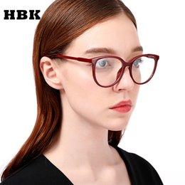 sexy women eyeglasses 2019 - HBK Ladies Sexy Cat Eye Glasses Frames Gorgeous Brand Designer Optical EyeGlasses Fashion Eyewear Computer Oculos Men Wo