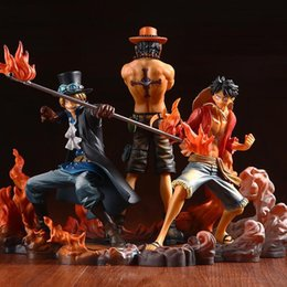 $enCountryForm.capitalKeyWord Australia - 2019 Free Shipping Hot 3pcs set 14-17CM Anime One Piece DXF Luffy Ace Sabo Boxed PVC Action Figures Collectible Model Toys free shipping