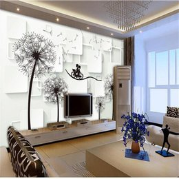 Sound Bicycle Australia - custom size 3d photo wallpaper mural living room dandelion square bicycle couples picture sofa TV backdrop wallpaper mural non-woven sticker