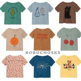 Bobo Cartoon Australia - Bbk Bobo 2019 New Summer Baby Girl Clothes 100% Cotton Short Sleeve Cartoon Toddler Boys T-shirts Kids Tops Tees C* Y19051003