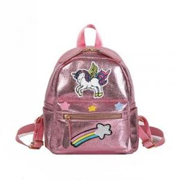0e383e35e1 Cute buCkets online shopping - Women Rainbow unicorn Backpack Cute Teenager  cartoon Shoulder Bag embroidery Children