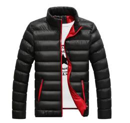 Mens Parka Leather Canada - Winter jackets mens thicken wadded leather Coat Jaqueta Masculina winter jacket men stand Collar windbreaker Parka Coats J2