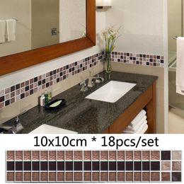 Designing Small Kitchens Australia - Matte Mosaic Tile Wall Sticker Kitchen Sink Stove Background Waterproof Sticker Bathroom DIY Decor Self Adhesive PVC Stickers