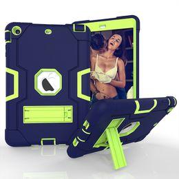 $enCountryForm.capitalKeyWord Australia - For iPad Pro Air 5 New Armor Tablet Case For iPad Kids Safe Heavy Duty Shockproof Kickstand Silicone Hard Back Hybrid Robot Cover