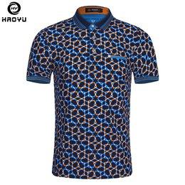 Big Man Polo Australia - 2018 Summer Fashion Mens Polo Shirt Short Sleeve Geometric Pattern Slim Shirt For Men Polo Shirts Camisa Polo Masculina Big Size Q190428