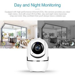hd dome camera UK - HD Automatic Induction Dome Camera Tracking Infrared Night Vision Wireless Monitoring Cameras Mobile Phone WIFI Remote Monitor