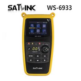 venda por atacado SATLINK WS6933 Medidor de Satélite LCD Finder Digital receptor de tv via satélite com Bússola Digital Satélite Signal Finder Meter