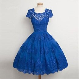 Custom Short Gown Australia - 2019 New Short Prom Dresses A Line lace ball gown Cocktail Party Dresses Custom Made Cheap Dresses For Women Mini Homecoming Gowns 2K19