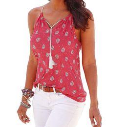 Woman Hot Tank Top Australia - good quality Women 2019 Summer Tee Tops Print Sleeveless V-Neck Vest Shirt Tank Tops For Womens Fashion Hot Sale Blouse T-shirt S-XL