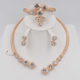 $enCountryForm.capitalKeyWord Australia - Fashion Necklace Bracelet Earring Ring Sets Dubai Gold Color Jewellery Nigerian Women Bridal Wedding African Beads Jewelry Sets