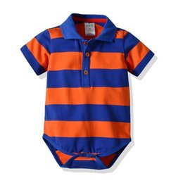 China 2021 A New Kind of Baby Leisure Hat-shirt with Short Sleeves and Connected Hat-shirt and Pure Cotton Stripe Climbing Suit cheap hat kinds suppliers