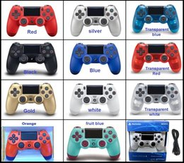 Ps4 Wireless NZ - NEW PS4 Wireless Bluetooth Game controller with light SLIM for PS4 Controller Dual Double Shock Joystick Gamepads for PlayStati DHL free