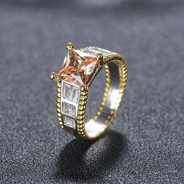$enCountryForm.capitalKeyWord Australia - New Arrival Sparkling Jewelry 925 Sterling Silver&Separate Color Princess 5A Cubic Zirconia Eternity Women Wedding Bridal Ring
