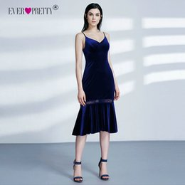 $enCountryForm.capitalKeyWord Australia - Velvet Evening Dresses Pretty Lace Mermaid Sleeveless Navy Blue Sexy Autumn Winter Occasion Party Evening Dresses T190606