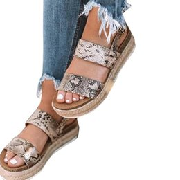 Discount casual slip wedge shoes - 2019 New Platform Sandals With Wedges Shoes For Women Summer Chaussures Femme Leather Women Sandals Heels Sandalias Muje