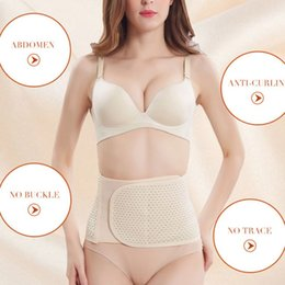 fc61132906d Women Breathable Elastic Waist Trainer Slimming Wrap Belt Belly Band Tummy  Compression Band Support Girdle Invisible Body Shaper