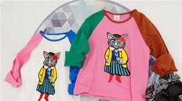 Designs Girls Shirts New Australia - 2019 New Autumn Item Girl Long Sleeve T-shirt Cartoon Cat Design 3 d blank baby good boy boys t shirts clothing geometric Tights 3D